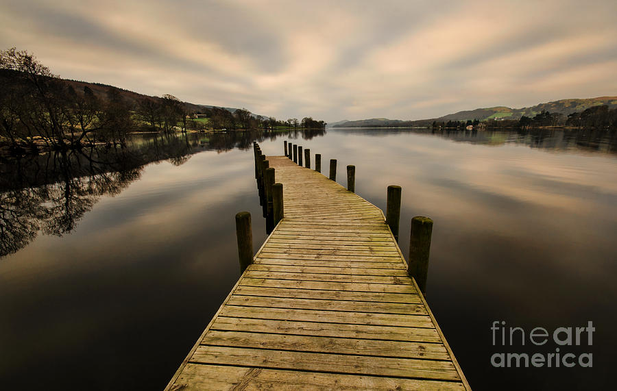 Cumbria Photograph - Coniston Water Jetty by John D Hare