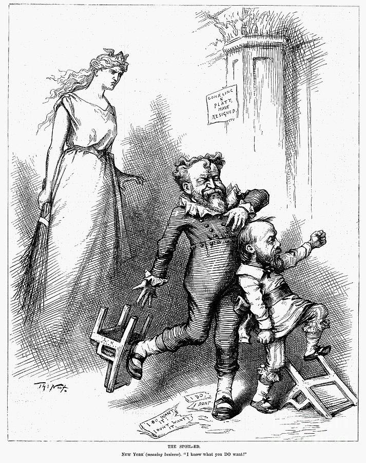 1881 Photograph - Conkling/platt Resignation by Granger