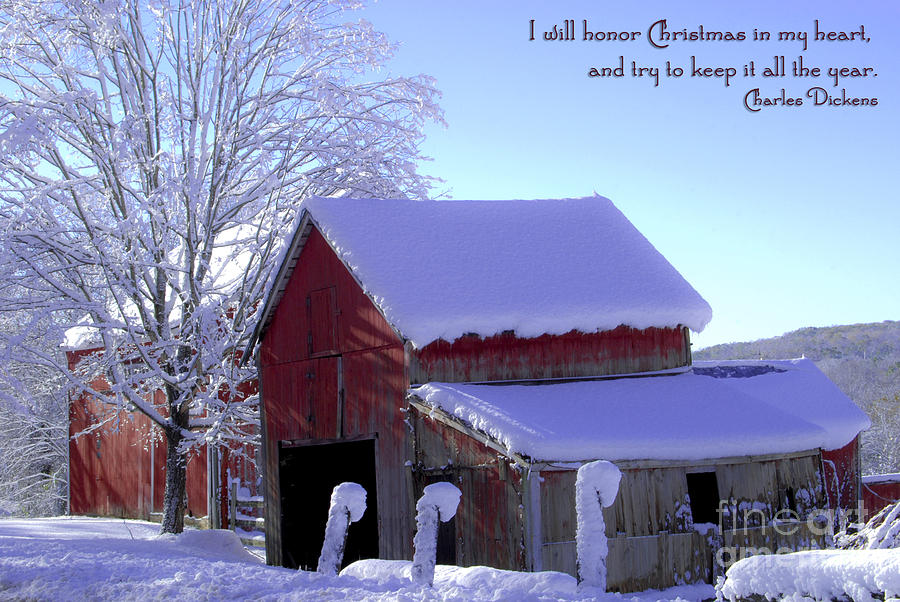 Winter Photograph - Connecticut Christmas Connecticut Usa by Sabine Jacobs