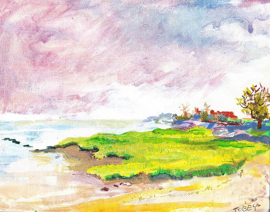 Shore Painting - Connecticut Shore by Vannucci Fine Art