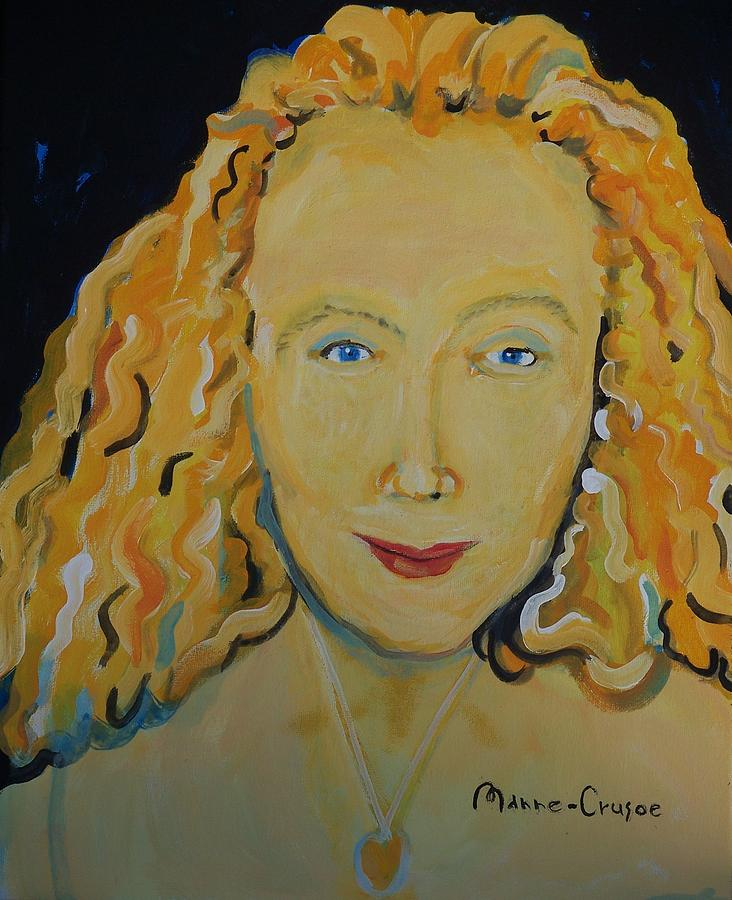 Connie Painting - Connie Crothers by Jay Manne-Crusoe