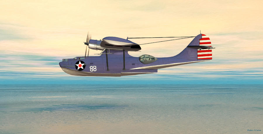 Aircraft Digital Art - Consolidated Pby Catalina by Walter Colvin