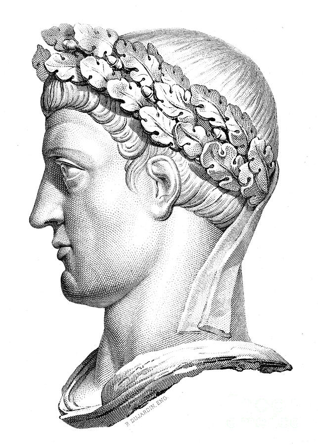 4th Century Photograph - Constantine I (d. 337) by Granger
