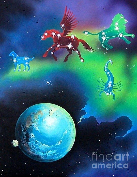 Fantasy Painting - Constellations by Kimberlee  Ketterman Edgar