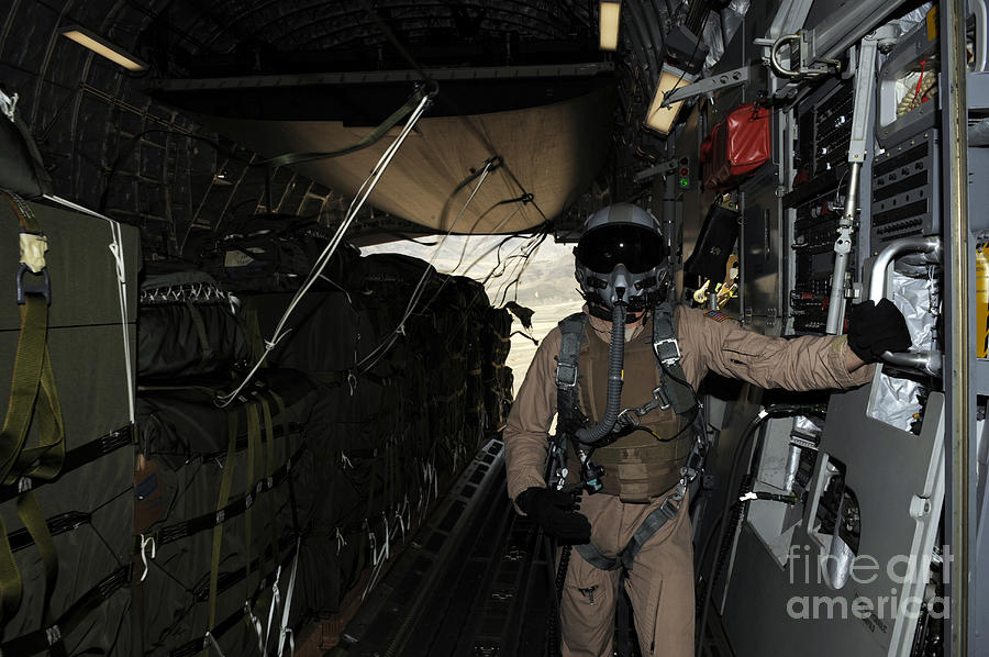 Afghanistan Photograph - Container Delivery System Bundles Exit by Stocktrek Images
