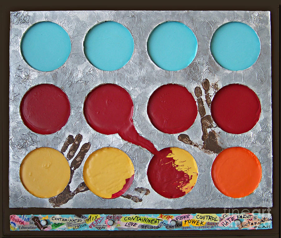 Circles Mixed Media - Containment - 2012 by Tammy Ishmael - Eizman