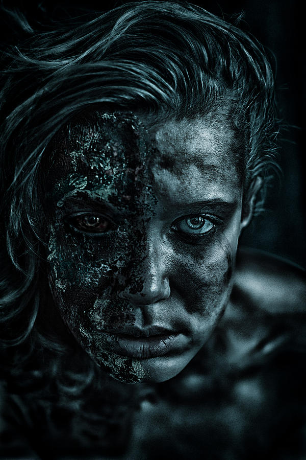 Woman Portrait Photograph - Contamination by Eugene Volkov