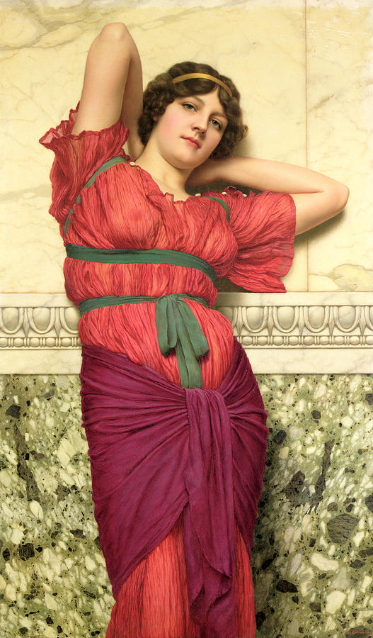 Contemplation Painting - Contemplation by John William Godward