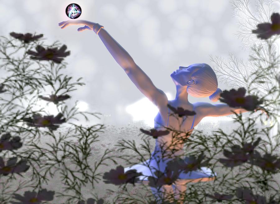 Ballerina Digital Art - Contentment by Monroe Snook