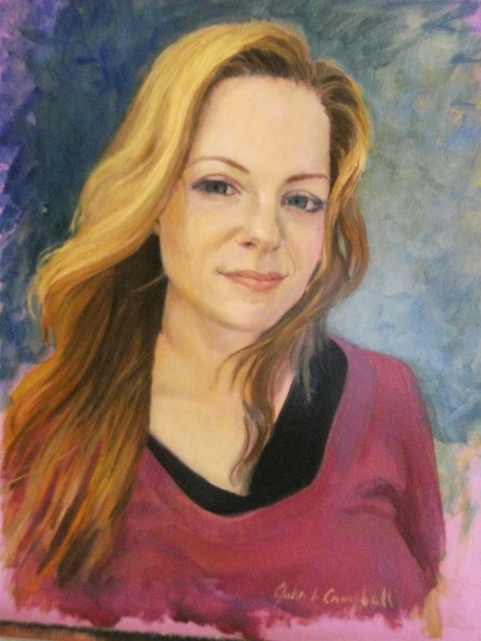 Portrait Painting - Contest Image by John L Campbell