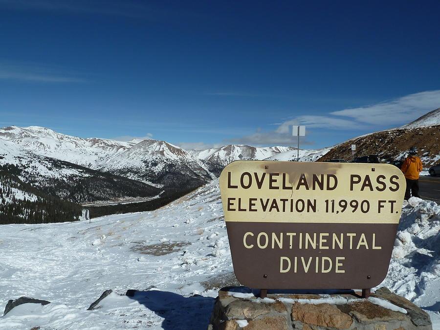 Abstract Digital Art - Continental Divide Loveland Pass by Bill Kennedy