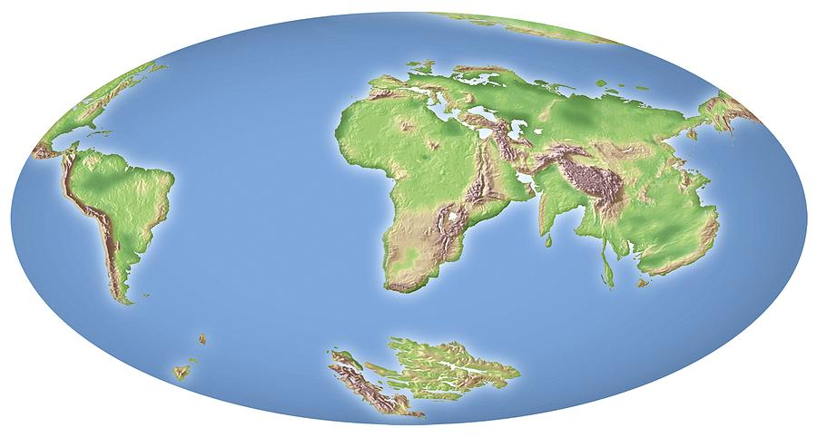 Land Photograph - Continental Drift After 100 Million Years by Mikkel Juul Jensen