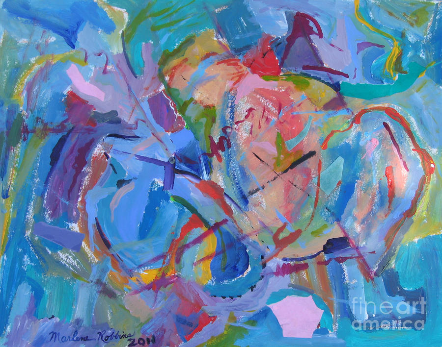 Abstract Painting - Continuity by Marlene Robbins