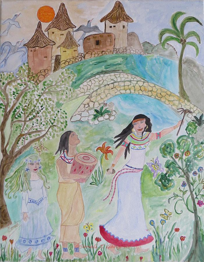Fairy Land Painting - Contos De Fadas by Sonali Gangane