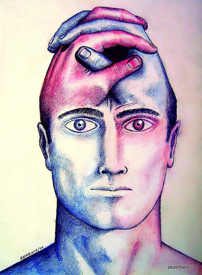 Left Hemisphere Digital Art - Contralateral Stimuli by Paulo Zerbato