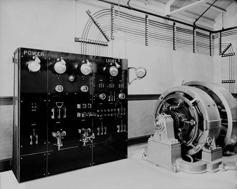 History Photograph - Control Panel And Dynamo Generator by Everett