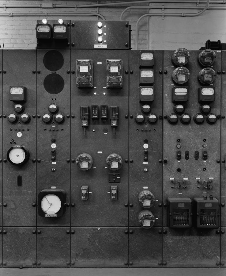 History Photograph - Control Panels Of The Detroit Edison by Everett