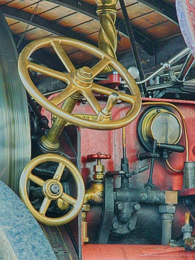 Steam Engine Photograph - Controls by Sharon Lisa Clarke