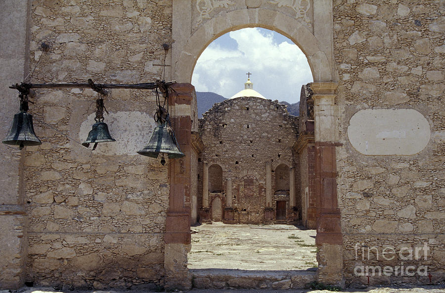 Mexico Photograph - Convent Church Bells  Mexico by John  Mitchell