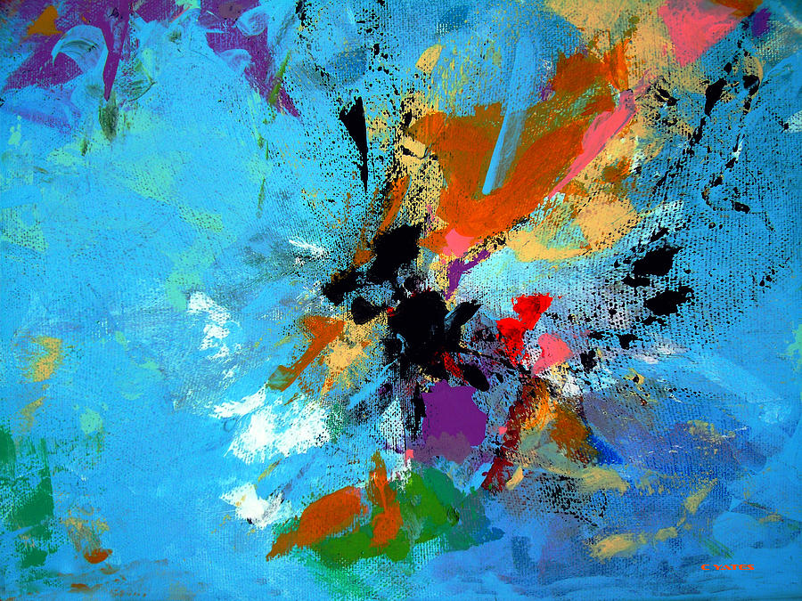 Abstract Painting - Convergence by Charles Yates