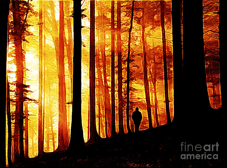 Forest Digital Art - Conversing With Ancients  by The DigArtisT