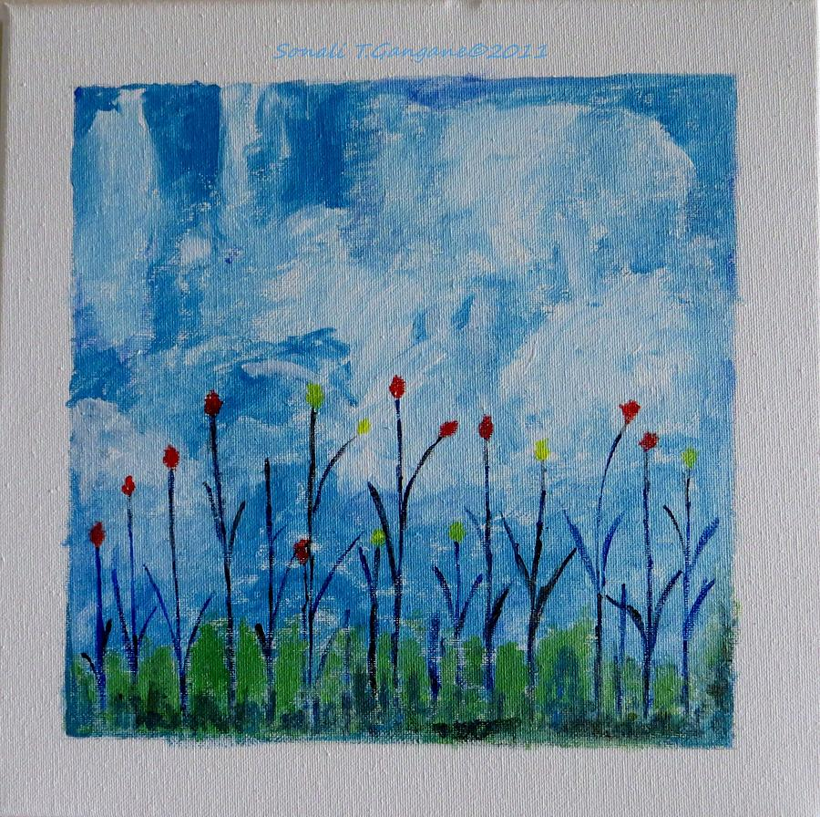 Flowers Painting - Conviction by Sonali Gangane