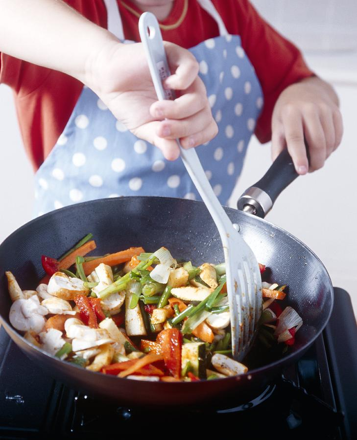 Equipment Photograph - Cooking A Stir Fry by Veronique Leplat