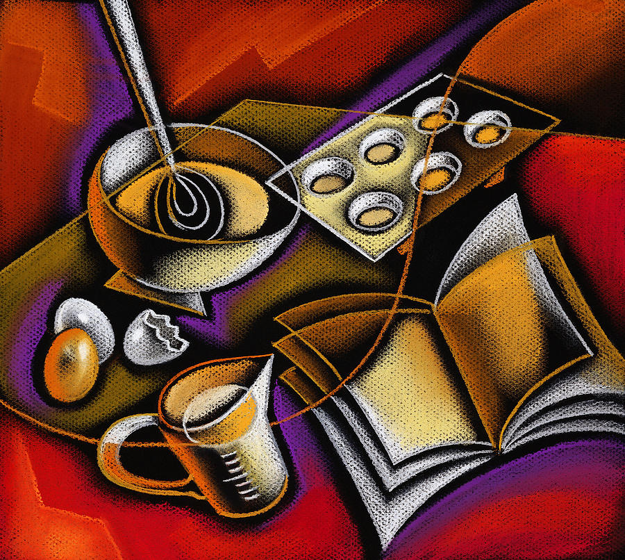 Cooking Painting by Leon Zernitsky