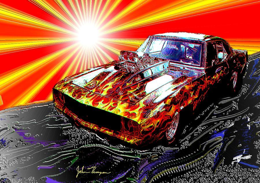 Cool Camaro Digital Art by John Thompson