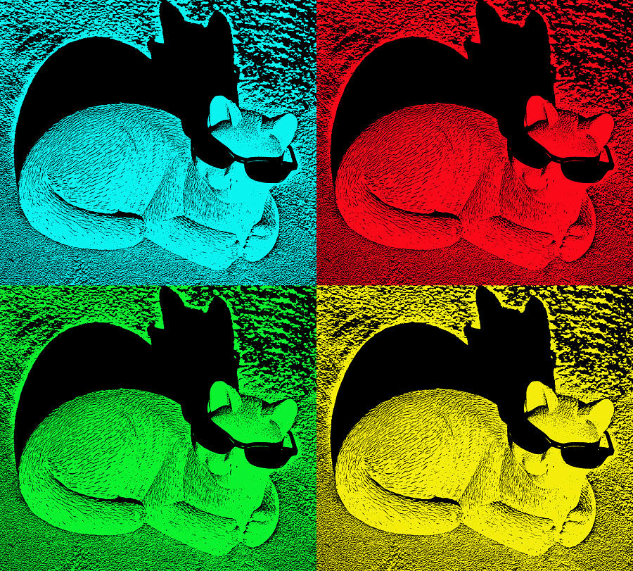 cool cat pop art photograph by aimee l maher alm gallery