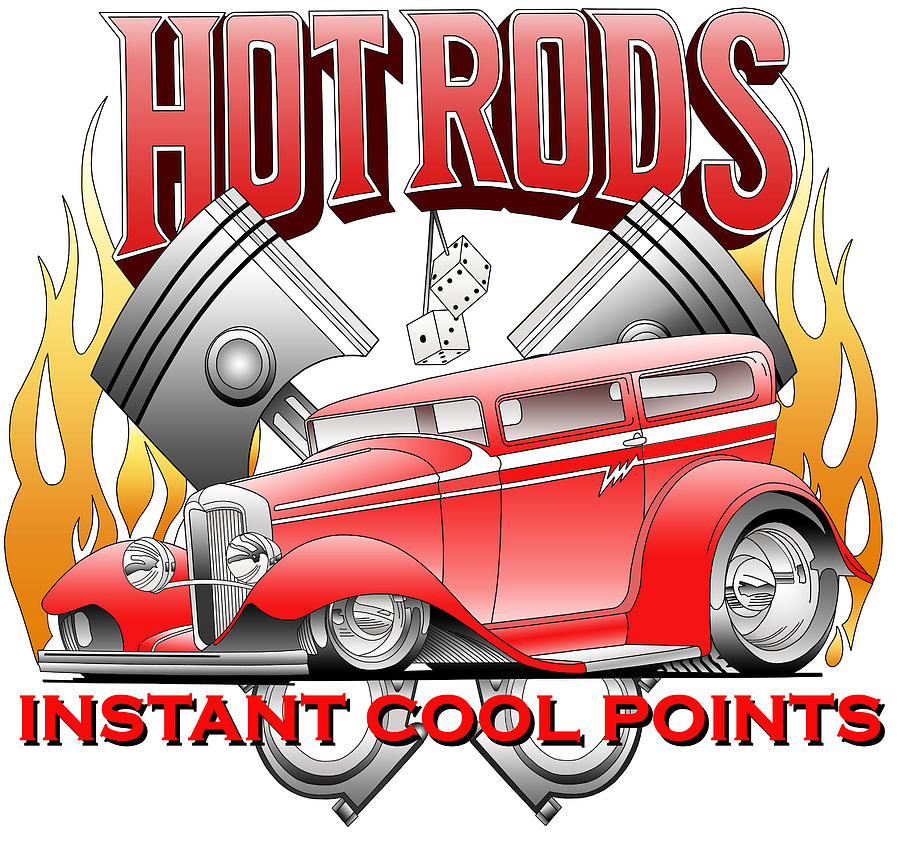 Hot Rods Digital Art - Cool Points by Lyle Brown