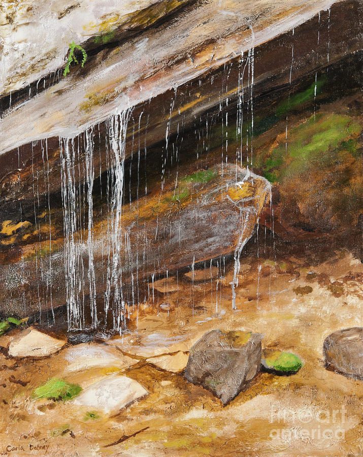 Waterfall Painting - Cool Water by Carla Dabney