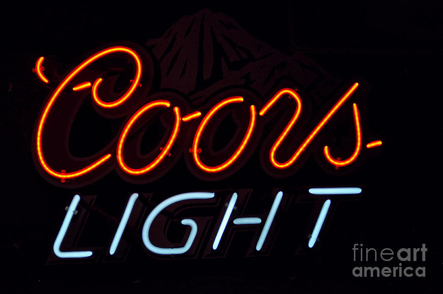 Coors Light Signs - Coors Beer Signs - Neon Signs Photograph - Coors Light by Juls Adams