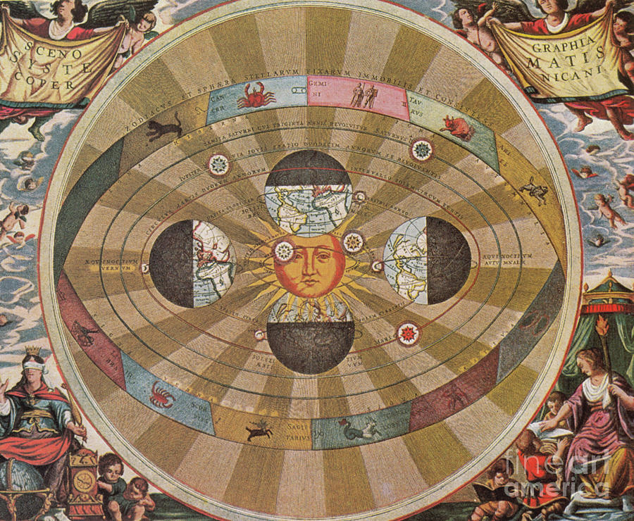 Science Photograph - Copernican World System, 17th Century by Science Source