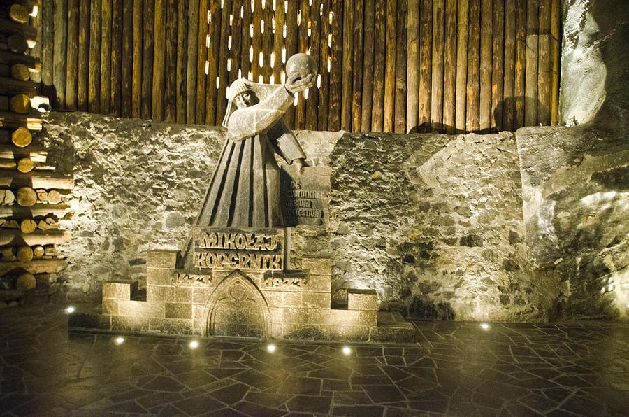 Poland Photograph - Copernicus - Wieliczka Salt Mine by Jon Berghoff