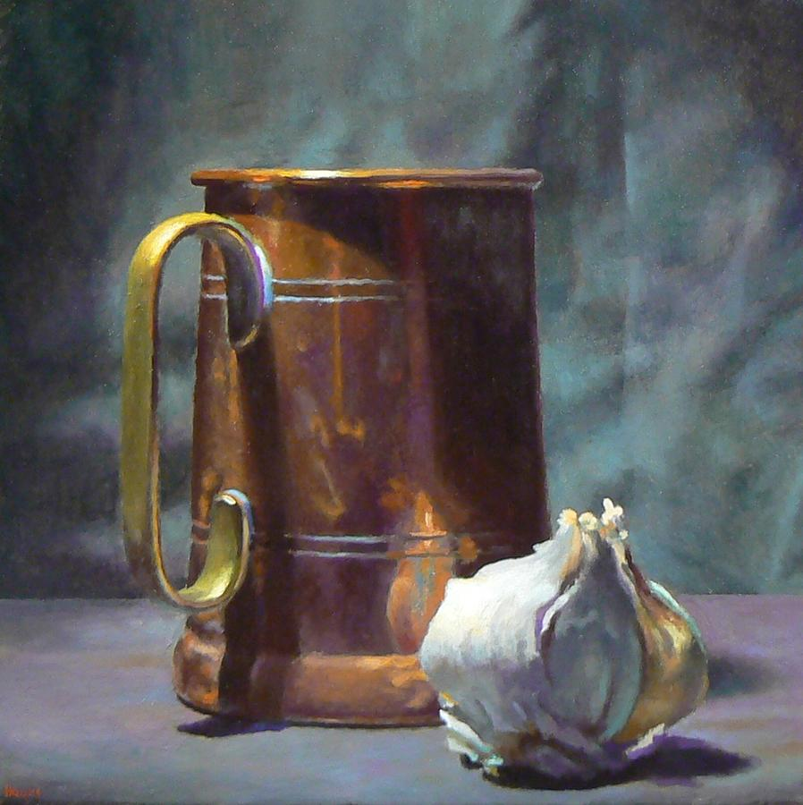 Copper and Garlic Painting by Jeffrey Hayes