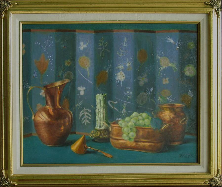 Copper Pot Painting - Copper by Eleanor Mcintosh
