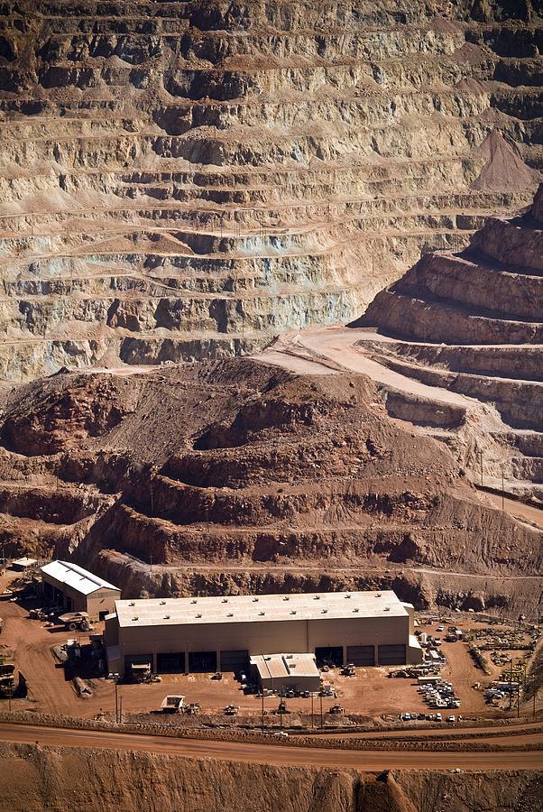Building Photograph - Copper Mine Buildings, Arizona, Usa by Arno Massee