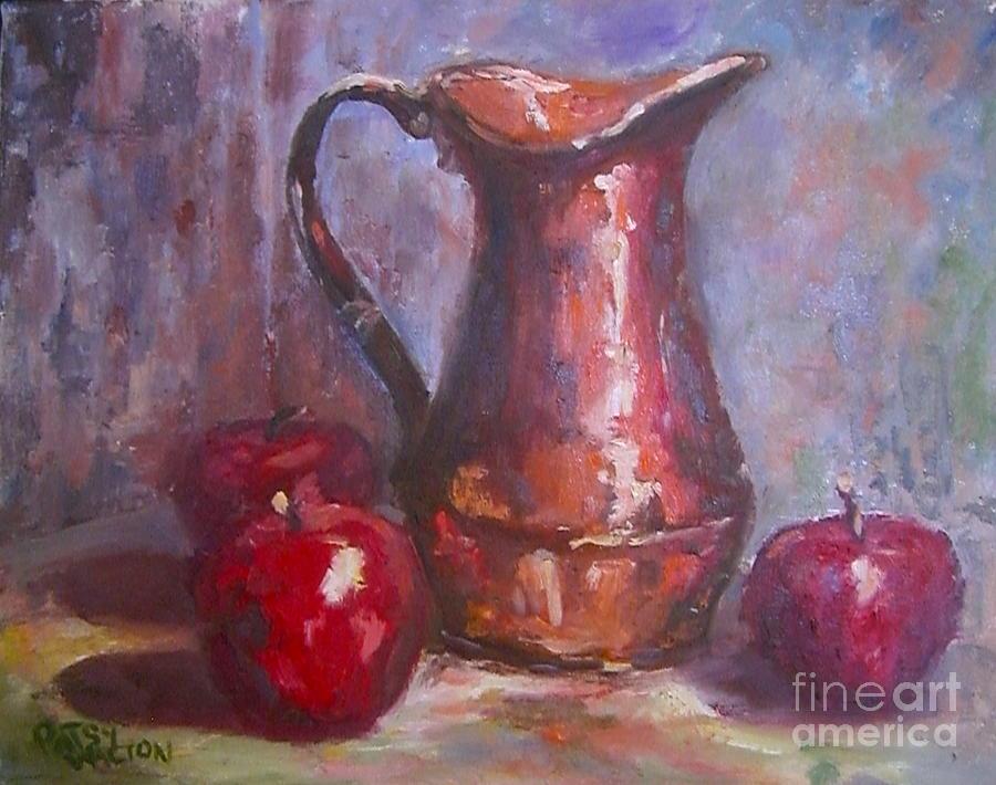Copper Pot Painting - Copper Study by Patsy Walton