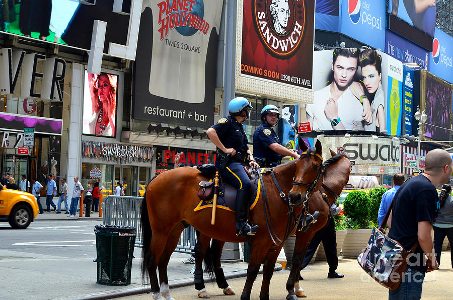 New York Photograph - Cops In Manhattan by Pravine Chester