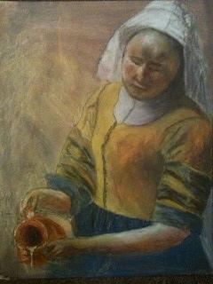 Copy Of Vermeer Kitchen Maid Painting by Paul Matthias