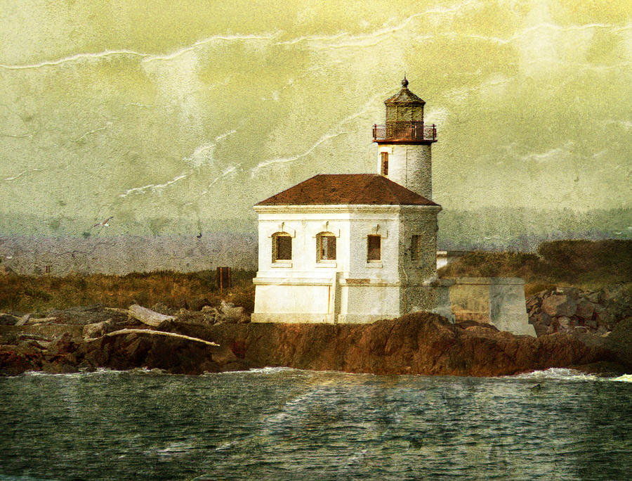 Lighthouse Photograph - Coquille River Lighthouse by Jill Battaglia