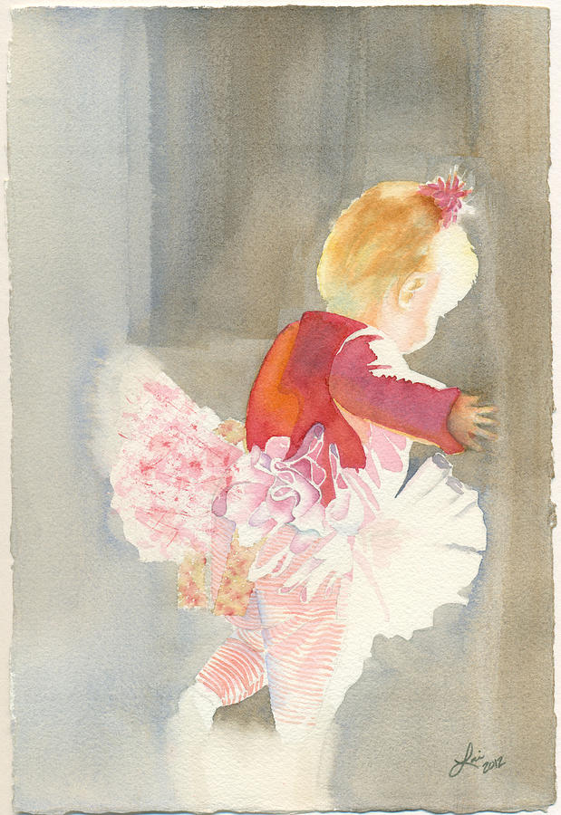 Children Painting - Cora In Strong Light 2 by Lori Johnson