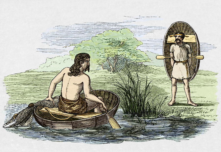 Coracle Photograph - Coracle Boats Of The Ancient Britons by Sheila Terry