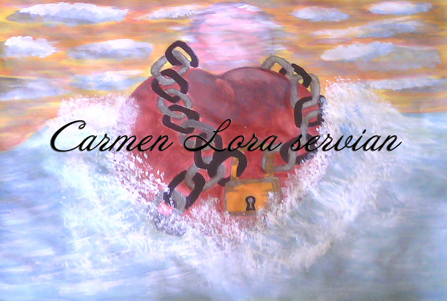 Corazon De Mar Painting by Mary Carmen Lora Servian