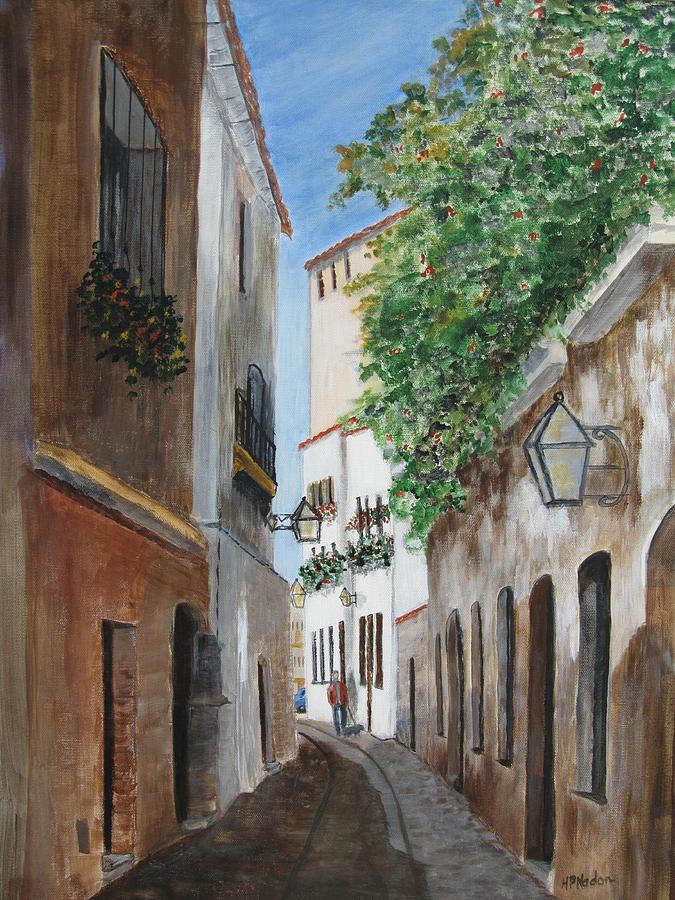 Streetscape Painting - Cordova Lane by Heidi Patricio-Nadon