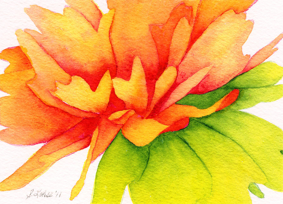 Art Painting - Coreopsis by Sue Lohse