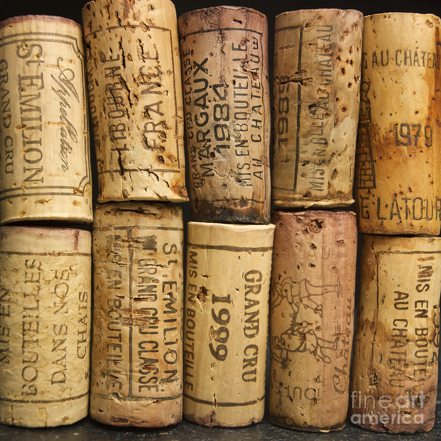 Grand Cru Photograph - Corks Of Fench Vine Of Bordeaux by Bernard Jaubert