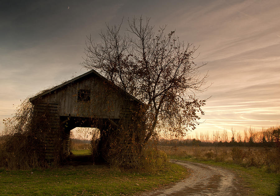 Corn Crib Photograph