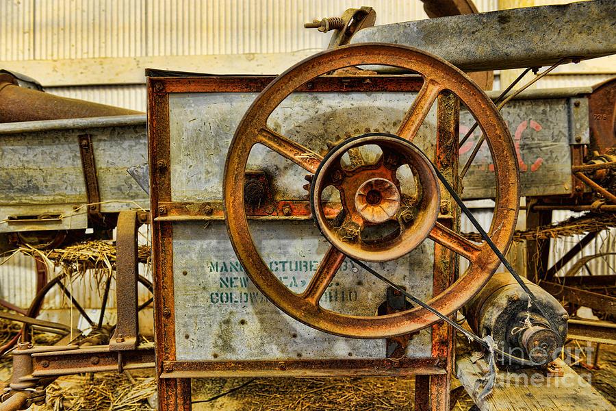 Antique Photograph - Corn Husker Machine by Paul Ward